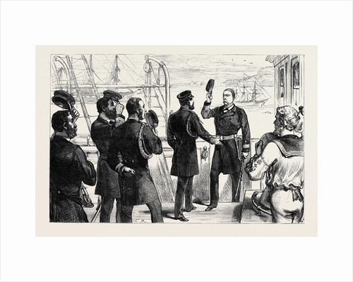 The Duke of Edinburgh Receiving the Commander of the U.S. Frigate Constellation at Queenstown 1880 by Anonymous