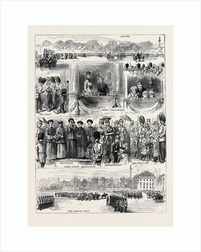 Sketches at Trooping the Colours on the Queen's Birthday 1880 by Anonymous