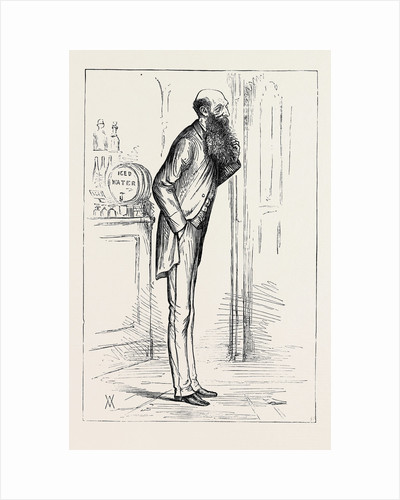 Parliamentary Sketches: In the Lobby: Cold Water. 1880 by Anonymous