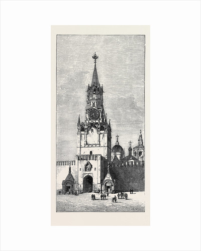 Moscow: The Sacred Gate of the Kremlin Russia 1874 by Anonymous