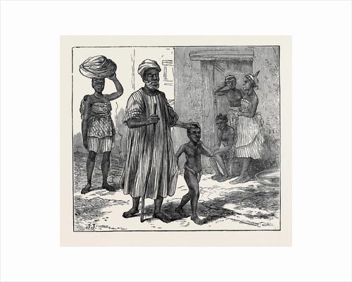 A Blind Beggar. Cape Coast Castle 1874 by Anonymous