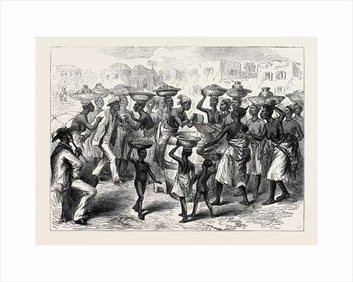 The Ashantee War: Selling Indian Corn in the Streets of Cape Coast Castle 1874 by Anonymous