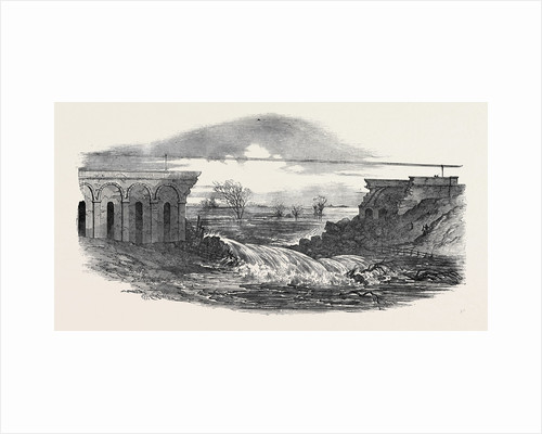 Destruction of the Crows-Mills Viaduct on the Midland Railway, Near Leicester by Anonymous