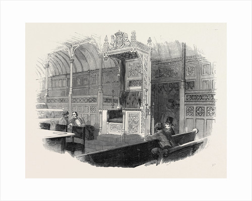 The Speaker's Chair, for the New House of Commons, 1852 by Anonymous