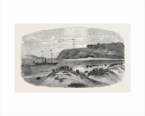 Entrance of the First Mail Steamer Into the Bay of Natal, 1852 by Anonymous