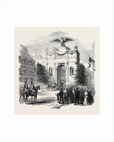 Arrival of the President of France at the Triumphal Arch, at St. Etienne, 1852 by Anonymous