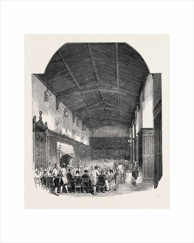 The Great Hall, Newstead Abbey, Entertainment to the British Archaeological Association, Newark, 1852 by Anonymous