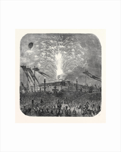 Fireworks in the Place De La Concorde, 1852 by Anonymous