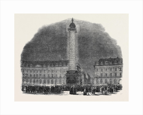 The Column in the Place Vendome, Illuminated, 1852 by Anonymous