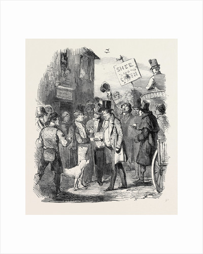 The Kilkenny Election, Canvassing for Votes, 1852 by Anonymous