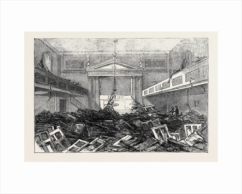 The Riot at Stockport: Interior of the Roman Catholic Chapel at Edgeley, 1852 by Anonymous