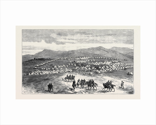 The Zulu War: Camp of 13th and 90th Regiments at Eland's Neck Transvaal Border of Zululand 1879 by Anonymous