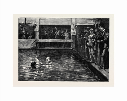 The Six-Days' Swimming Match in Lambeth Baths 1879 by Anonymous