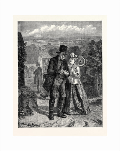 The Village Postman 'Nothing I'm Afraid This Morning Miss', in the Suffolk Street Exhibition UK 1867 by Anonymous