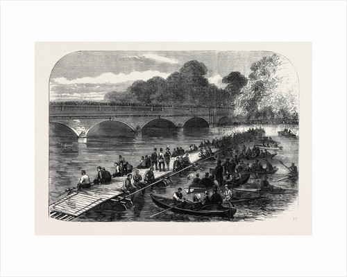 The 1st Middlesex Volunteer Engineers Throwing a Barrel-Pier Bridge Over the Serpentine 1867 by Anonymous