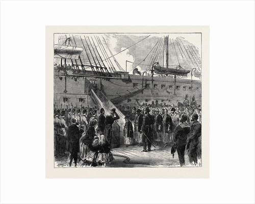 Prince Tokugawa Minbutaiho Brother of the Tycoon of Japan Visiting H.M Troop Ship Serapis at Portsmouth UK 1867 by Anonymous