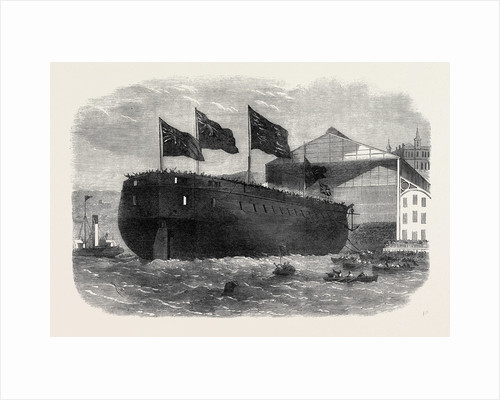 Launch of Her Majesty's Armour-Plated Screw Frigate Caledonia 31 Guns at Woolwich 1862 by Anonymous