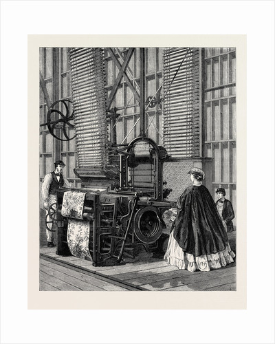 The International Exhibition: Smith's Power-Loom for Weaving Tufted Pile Carpets 1862 by Anonymous
