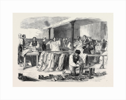 The Cotton Famine: The Manchester and Salford District Provident Society Distributing Clothing 1862 by Anonymous