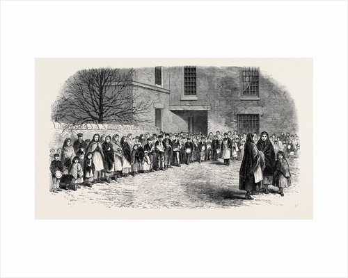 The Cotton Famine: Operatives Waiting for Their Breakfast in Mr. Chapman's Courtyard Mottram Near Manchester 1862 by Anonymous