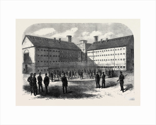 Interior of Mountjoy Prison Dublin Where the Fenians Are Confined 1866 Ireland by Anonymous