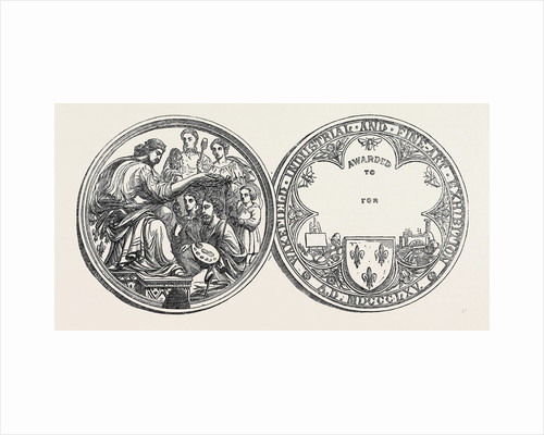 The Wakefield Industrial Exhibition Prize Medal 1866 by Anonymous