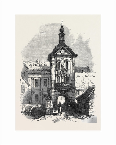 Bamberg the Rathhaus Germany 1866 by Anonymous