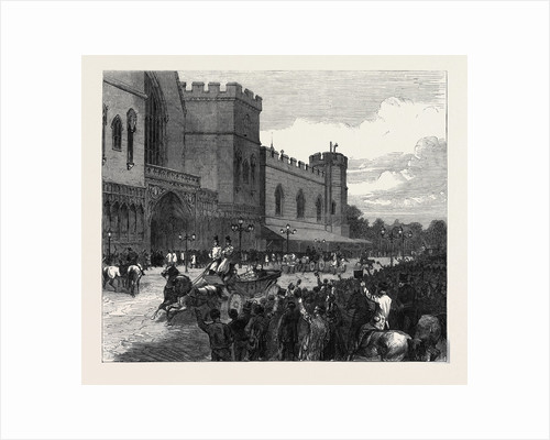 New Palace Yard on the Day Mr. Gladstone Moved the Second Reading of the Reform Bill 1866 by Anonymous