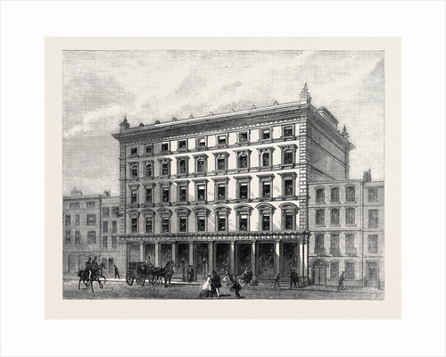 London Street Improvements: Lewis and Allenby's Silk Warehouse in Conduit Street UK 1866 by Anonymous
