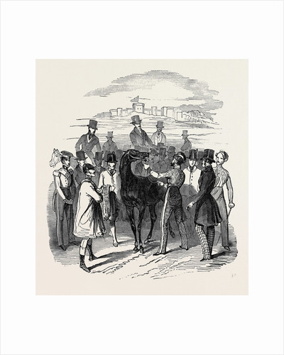 Sketch from the Windsor Steeple Chase. by Anonymous