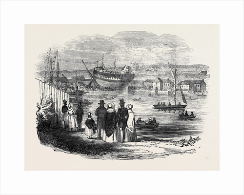The Launch of the Tudor, East Indiaman, at Newcastle Upon Tyne by Anonymous