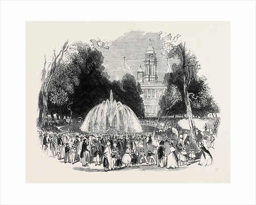 Commemoration of Independence at New York, Scene in the Park, 1844 by Anonymous