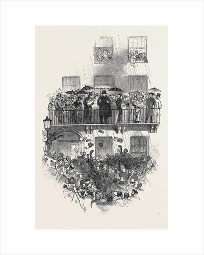 O'Connell at the Balcony, in Merrion Square, Dublin by Anonymous