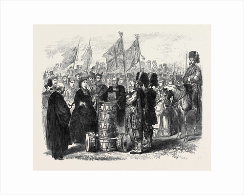 Presentation of Colours to the 93rd Sutherland Highlanders in the Queen's Park Edinburgh 1871 by Anonymous
