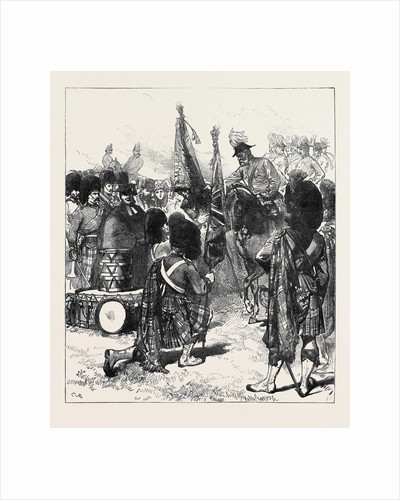 Presentation of New Colours to the 42nd Highlanders 1871 by Anonymous