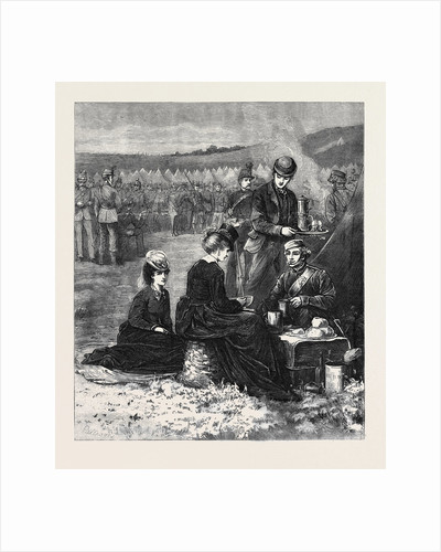 The Autumn Campaign: An Early Breakfast in Camp 1871 by Anonymous
