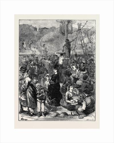 The Fair of St. Cloud Near Paris 1871 by Anonymous