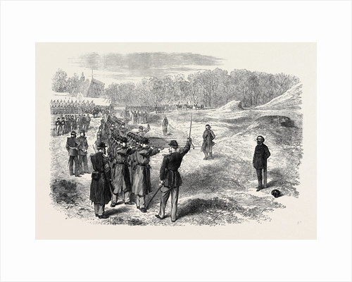 Execution of Rossel Ferre and Bourgeois at Satory Near Paris 1871 by Anonymous