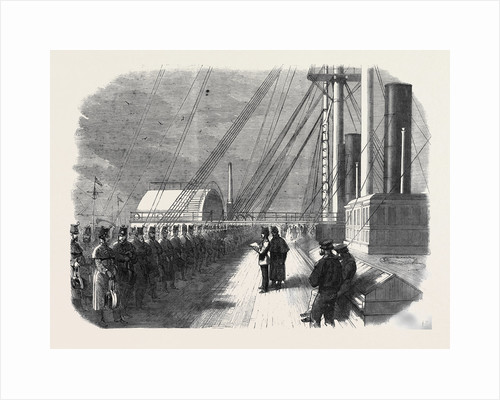 Calling the Roll on Board the Great Eastern Shortly Before Her Departure from the Mersey with Troops for Canada by Anonymous