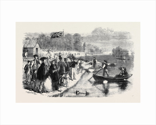 Pleasure Boats on the Ornamental Water in Regent's Park by Anonymous