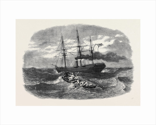 Picking Up a Man Overboard from the Peninsular and Oriental Company's Ship Candia in the Red Sea. by Anonymous
