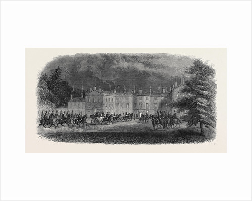 Arrival of the Prince at Clumber Visit of the Prince of Wales to Clumber October 26 1861 by Anonymous