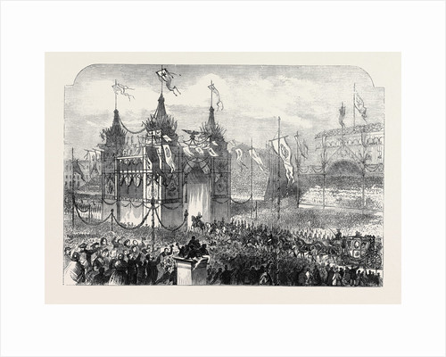State Entry Into Berlin: The King Passing Under the Triumphal Arch in the Alexander Platz the Coronation of the King and Queen of Prussia by Anonymous
