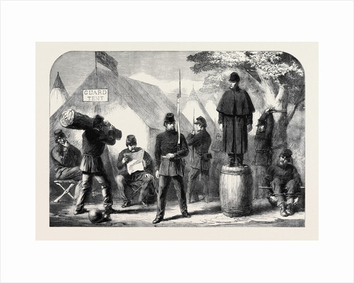 The Civil War in America: Punishment Drill in the Federal Camp by Anonymous