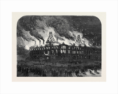Destruction by Fire of the Queen Railway Hotel at Chester by Anonymous