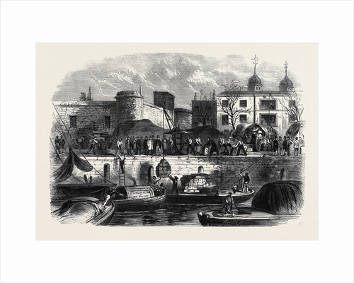 Shipping Munitions of War at the Tower for Canada December 28 1861 by Anonymous