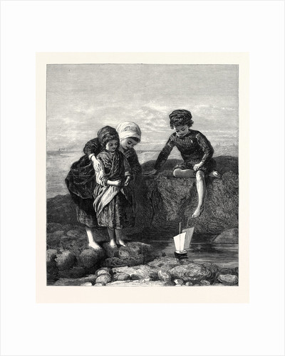The Mariner's Children, in the General Exhibition of Water Colour Drawings Dudley Gallery 1868 by Anonymous