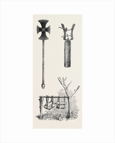 Cross Used in Celebrating the Sacrament Cymbals Used in Processions Bells of Musical Stone 1868 by Anonymous