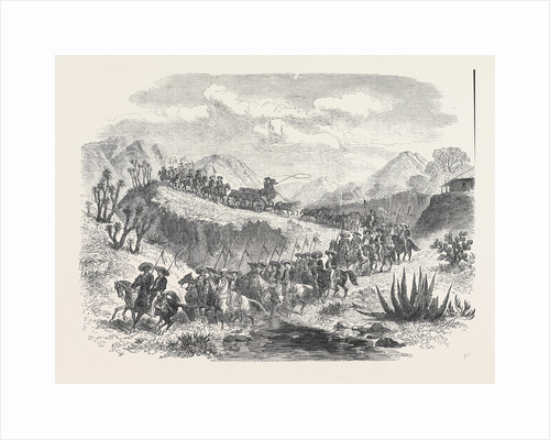 Conveying Silver from the Mines to Mexico 1868 by Anonymous