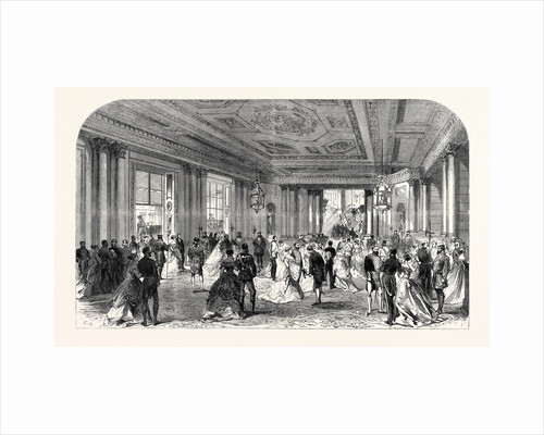 The Queen's Drawingroom: Grand Entrance Hall Buckingham Palace 1868 by Anonymous